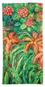 Cascading Day Lilies Beach Towel