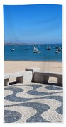 Cascais Promenade And Bay In Portugal Beach Towel