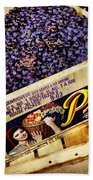 Case Of Sangiovese Grapes Beach Towel