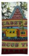 Casey Jr Circus Train Fantasyland Signage Disneyland Beach Towel