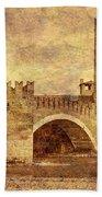 Castel Vecchio And Bridge In Verona Italy Beach Towel