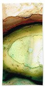 Casting Shadows - Earthy Abstract By Sharon Cummings Beach Towel