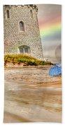 Castle By The Sea Beach Towel