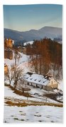 castle in northen Slovakia Beach Towel