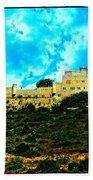 Castle In The Hot Summer Sun Beach Towel