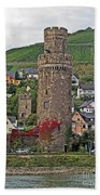 Castle Of The Rhine Beach Towel