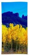 Autumn Castle Rock Aspens Beach Towel