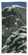 104619-castle Rock In Winter Dress Beach Towel