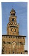 Castle Sforzesco Milan Beach Towel