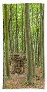 Castle Tree Stump Beach Towel