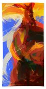 Cat Abstract Art Beach Towel by Pixel Chimp
