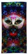 Cat Carnival Beach Towel by Klara Acel