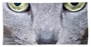 Cat Eyes Beach Towel
