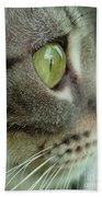 Cat Face Profile Beach Towel