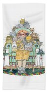 Cat Lady - In Chair Beach Towel by Mag Pringle Gire