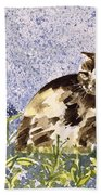 Cat Mint Wc On Paper Beach Towel