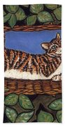 Cat Napping Beach Towel