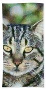 Cat Portrait Beach Towel