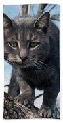 Cat Tree Beach Towel