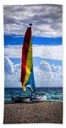Catamaran At The Beach Beach Towel