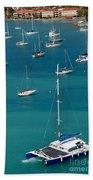 Catamaran  St Thomas Usvi Beach Towel