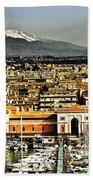 Catania Sicily Beach Towel