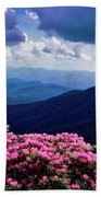 Catawba Rhododendron In Bloom, Yellow Beach Towel