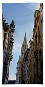 Catching A Glimpse Of Grand Place Brussels Belgium Beach Towel