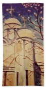 Cathedral At Springtime Beach Towel
