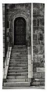 Cathedral Door And Steps Beach Towel