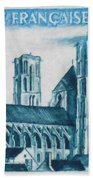 Cathedral Of Laon Beach Towel