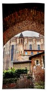 Cathedral Of Ste-cecile In Albi France Beach Towel by Elena Elisseeva
