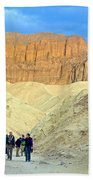 Cathedral Peaks From Golden Canyon In Death Valley National Park-california Beach Towel