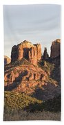 Cathedral Rock At Sunset Beach Towel