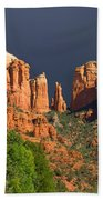 Cathedral Rock Before The Storm Beach Towel