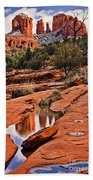 Cathedral Rock In Winter Beach Towel