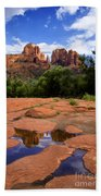 Cathedral Rock Reflections Beach Towel