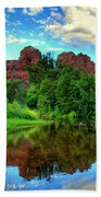 Cathedral Rocks At Red Rock Crossing Beach Towel