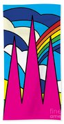 Cathedral Spires Stained Glass Lichfield Beach Towel