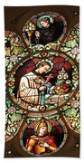 Cathedral Stained Glass Beach Towel