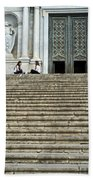Cathedral Steps Girona Spain Beach Towel