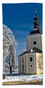 Catholic Church In Town Of Krizevci Beach Towel
