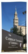 Catholic University Of America Beach Towel