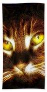 Cat's Eyes - Fractal Beach Towel