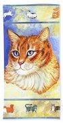 Cats Purrfection Five - Orange Tabby Beach Towel