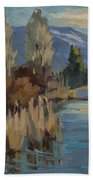 Cattails At Harry's Pond 1 Beach Towel