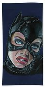 Catwoman Beach Towel
