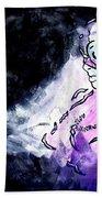 Catwoman Purple Suit Beach Towel