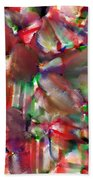 Caught In The Crowd Water Color And Pastel Beach Towel by Sir Josef - Social Critic -  Maha Art