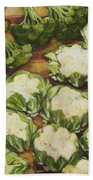 Cauliflower March Beach Towel by Jen Norton